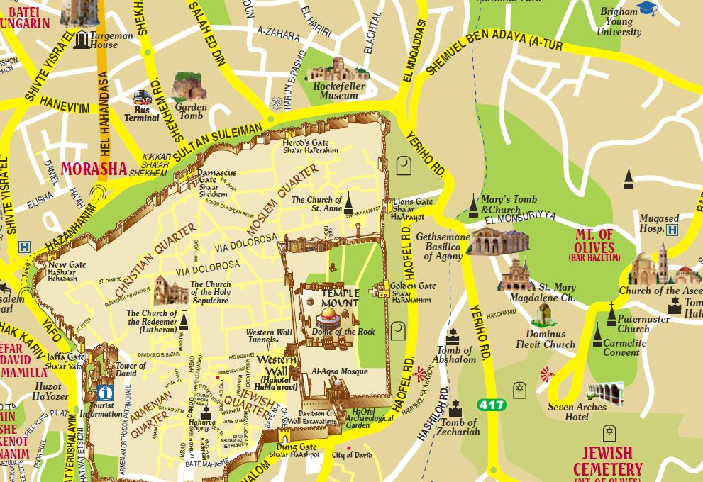 Related Keywords Suggestions For Mount Of Olives Map